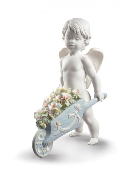 Lladrò Figurina Angelo Fiori nel cielo